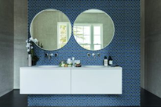 Yoga Penny Mosaic Deep Blue Gloss Porcelain