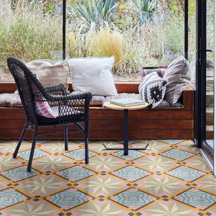 Decorative encaustic tiles