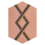 Jigsaw Hopscotch Pomato Pink Satin Encaustic