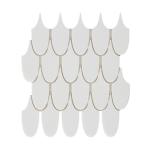 Plume Swan Honed Marble Mosaic